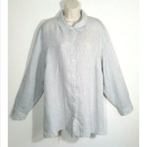 J. JILL Love Linen Button Shirt Top Blouse 3146E1